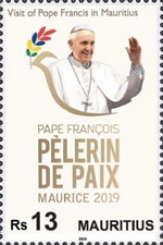 [Visit of Pope Francis to Mauritius, type AMH]