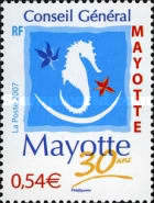 [The 30th Anniversary of Mayotte General Council, Typ FD]