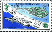 [Airmail - The 20th Anniversary of Flight Connection of Mayotte-Reunion, type L]