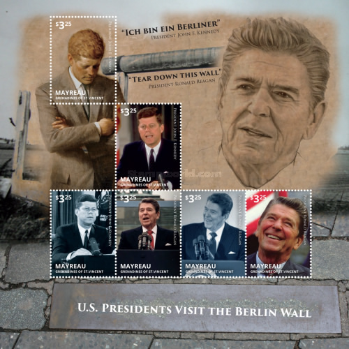 [US Pesidents Visit the Berlin Wall, type ]