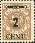 [No. 141-146, 148 & 150 Surcharged - Thick Numbers, type AA]