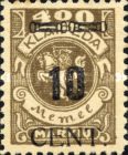 [No. 141-146, 148 & 150 Surcharged - Thick Numbers, type AA6]