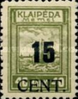 [Annexation of Memel to Lithuania Issue Surcharged, type AB]