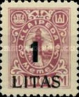 [Annexation of Memel to Lithuania Issue Surcharged, type AB10]