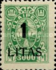 [Annexation of Memel to Lithuania Issue Surcharged, type AB12]