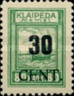 [Annexation of Memel to Lithuania Issue Surcharged, type AB2]