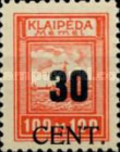 [Annexation of Memel to Lithuania Issue Surcharged, type AB3]