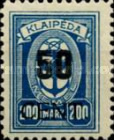 [Annexation of Memel to Lithuania Issue Surcharged, type AB4]