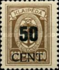 [Annexation of Memel to Lithuania Issue Surcharged, type AB5]