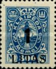 [Annexation of Memel to Lithuania Issue Surcharged, type AB9]