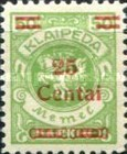 [No. 141-146, 148 & 150 Surcharged in Green or Red, type AC12]