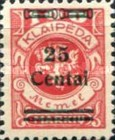 [No. 141-146, 148 & 150 Surcharged in Green or Red, type AC13]