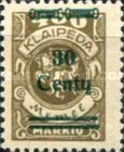 [No. 141-146, 148 & 150 Surcharged in Green or Red, type AC22]