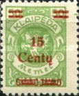 [No. 141-146, 148 & 150 Surcharged in Green or Red, type AC4]