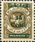 [No. 141-146, 148 & 150 Surcharged in Green or Red, type AC6]
