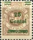 [No. 141-146, 148 & 150 Surcharged in Green or Red, type AC8]
