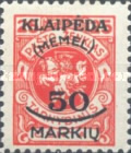 [Not Issued Lithuanian Official Stamps Overprinted & Surcharged, type P2]