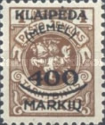 [Not Issued Lithuanian Official Stamps Overprinted & Surcharged, type P4]