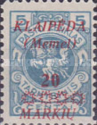 [Not Issued Lithuanian Official Stamps Overprinted & Surcharged - 4 Stars over