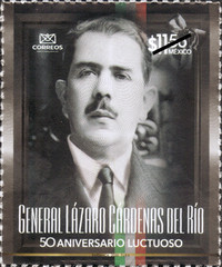 [The 50th Anniversary of the Death of President Lazaro Cardenas del Rio, 1895-1970, type EWA]