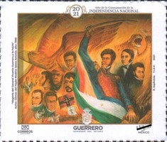 [The 200th Anniversary of the Complete Independence of Mexico, type EXQ]