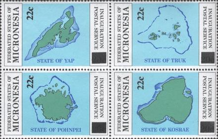 [Inauguration of Postal Independence Stamps of 1984 Surcharged - Maps, type ]