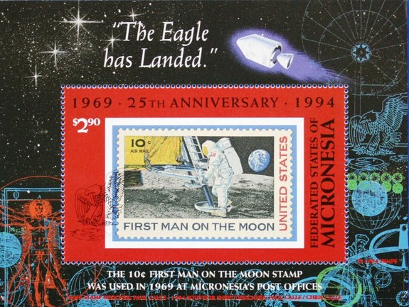 [The 25th Anniversary of the First Manned Moon Landing, type ]