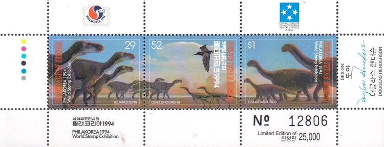 "[International Stamp Exhibition ""Philakorea 1994"" - Seoul, South Korea - Prehistoric Animals, type ]"