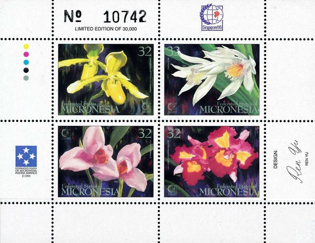 "[International Stamp Exhibition ""Singapore '95"" - Singapore - Orchids, type ]"