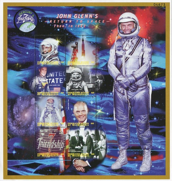 [John Glenn's Return to Space, First American to orbit Earth, Typ ]