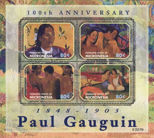 [The 100th Anniversary of the Death of Paul Gauguin, Artist, 1848-1903, type ]