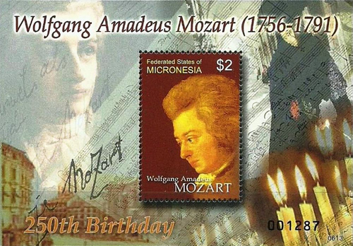 [The 250th Anniversary of the Birth of Wolfgang Amadeus Mozart, 1756-1791, type ]