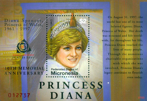 [The 10th Anniversary of the Death of Princess DIana, 1961-1997, type ]