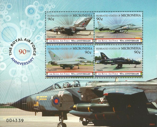 [The 90th Anniversary of the Royal Air Force, Typ ]