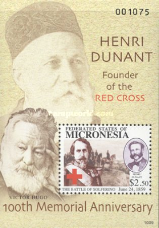 [The 100th Anniversary of the Death of Henry Dunant, 1828-1910, type ]