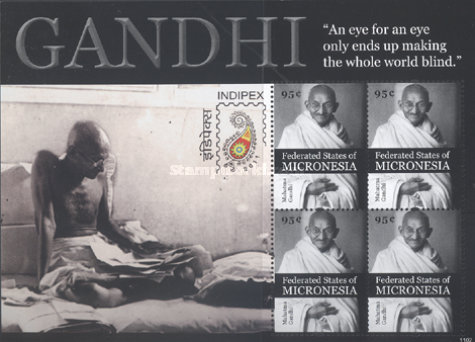 [Mahatma Gandhi, 1869-1948 - International Stamp Exhibition INDIPEX 2011 - New Delhi, India, Typ ]