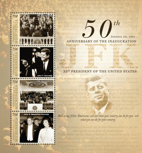 [The 50th Anniversary of the Inaguration of President John F. Kennedy, 1917-1963, Typ ]