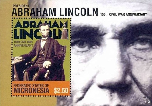 [The 150th Anniversary of the American Civil War - President Abraham Lincoln, 1809-1865, Typ ]