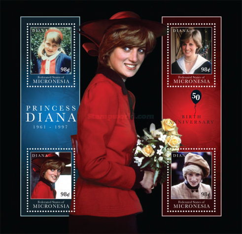 [The 50th Anniversary of the Birth of Princess Diana, 1961-1997, type ]
