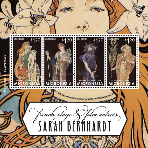 [The 90th Anniversary of the Death of Sarah Bernhardt, 1844-1923, type ]