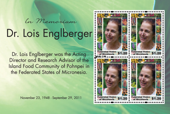 [The 2nd Anniversary of the Death of Dr. Lois Englberger, 1948-2011, type ]