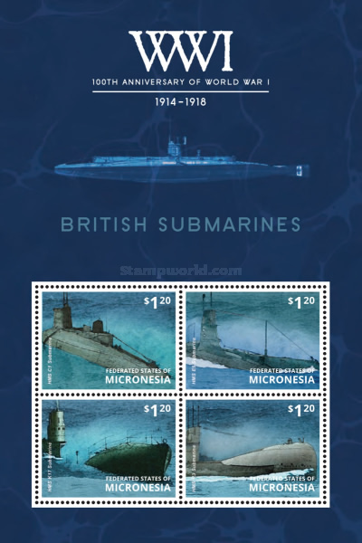 [The 100th Anniversary of the Beginning of World War I - British Submarines, type ]