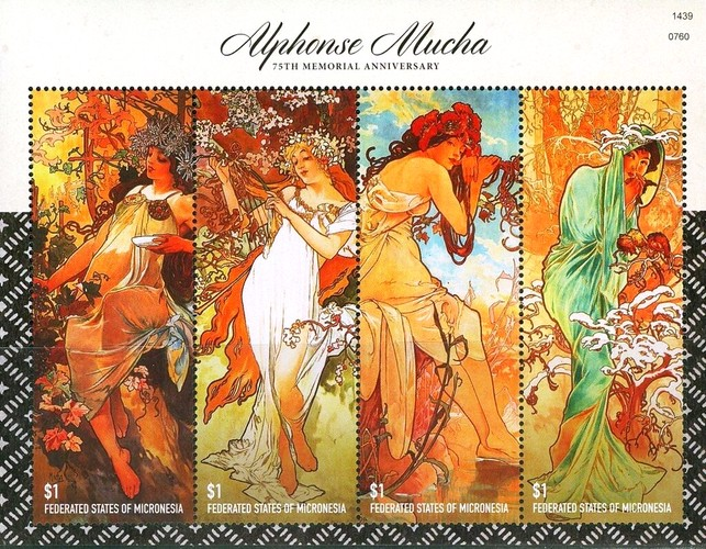 [The 75th Anniversary of the Death of Alphonse Mucha, 1860-1939, type ]