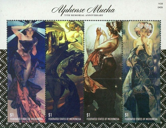 [The 75th Anniversary of the Death of Alphonse Mucha, 1860-1939, Typ ]
