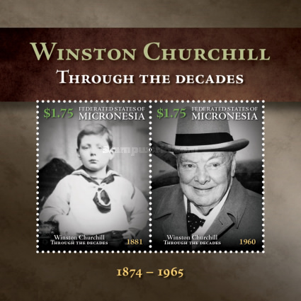 [The 50th Anniversary of the Death of Winston Churchill, 1874-1965, type ]