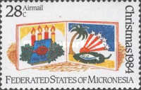 [Airmail - Christmas, type AC]