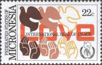 [International Peace Year, type AX]