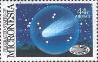 [Airmail - Halley's Comet and the 40th Anniversary of the Return of Nauruans from Truk, type AY]