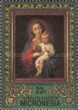"""[Christmas - """"Madonna and Child"""" Paintings, type BL]"""