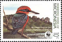 [Endangered Species - Micronesian Kingfisher and Micronesian Pigeon, Typ FR]
